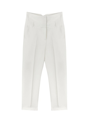 Ipekyol Yüksek Bel Havuç Pantolon Beyaz